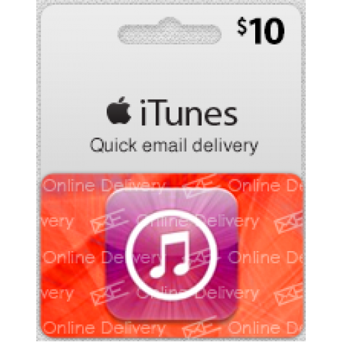 $10 USA ITunes Gift Card (Email Delivery)